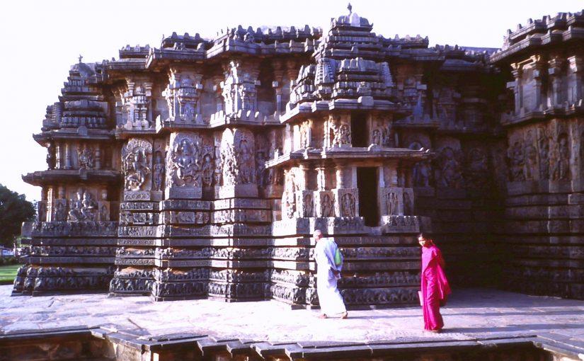 Exquisite and profuse sculptures adorn the Hoysalesvara Temple at Halebidu in Karnataka